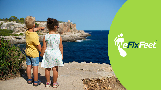 Keeping your child's feet clean & healthy during the Summer Holidays