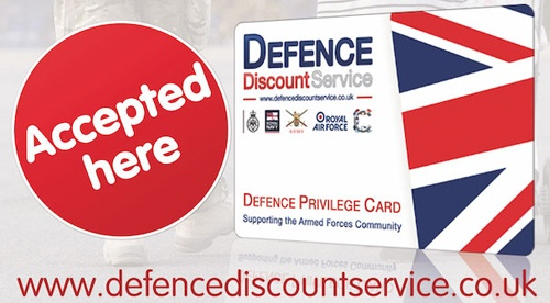 Defence Discount Service Accepted Here