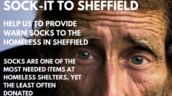 Appeal to donate socks for the homeless of Sheffield