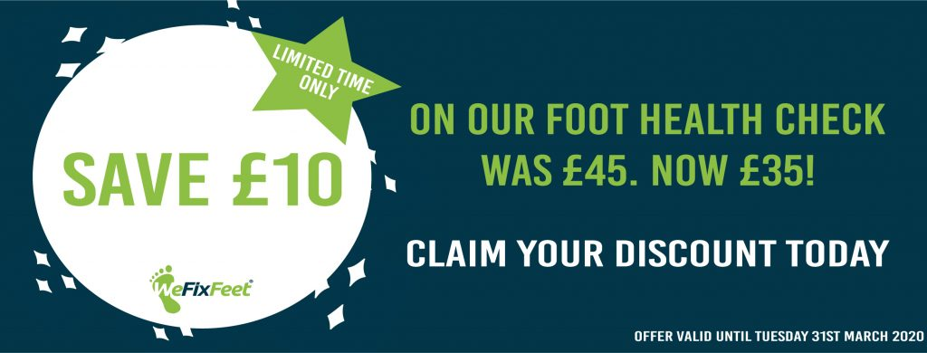 chiropody offer reduced price foot health check