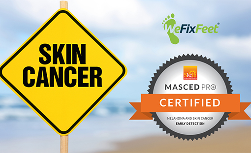 What are the signs of skin cancer on feet?