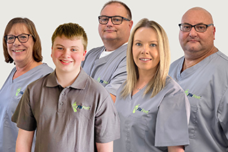 The We Fix Feet team in August 2021.
